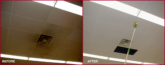 Ceiling Cleaning - Before and After
